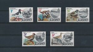 LN75589 Alderney animals fauna flora birds fine lot MNH