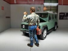 More details for g lgb 1:24 scale figure model mechanic garage man diorama chainsmoking larry