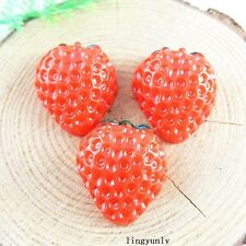 20 pcs Red Resin Strawberry Cameo Cabochons Flatback Crafts Accessories 51242