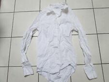 ❤ VIVIANCE COLLECTION ❤ Bodybluse Blusenbody Gr. 34 XS weiß Langarm Body Bluse