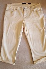 Jessica Simpson Plus Size Clam Diggers, Size 20W, Ivory