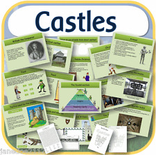 KS1 KS2 History CASTLES & THE NORMANS IWB, worksheets, teaching resources on CD