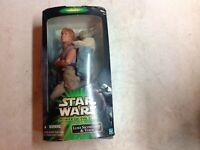 """2001 Star Wars Power Of The Jedi Luke Skywalker & Yoda 12"""" Action Figure"""