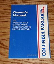 1988 Columbia ParCar Golf Car Owners Operators Manual 88
