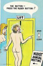 POSTCARD   COMIC  BAMFORTH  Comic Series  No 100  Lift  Nudist Annual Meetng