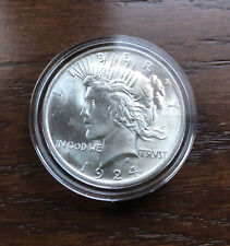 1924 SILVER PEACE DOLLAR IN CHOICE BU CONDITION!!  LOW MINTAGE!