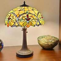Stained Glass Tiffany Style Floral Theme Table Lamp 23 Tall Reading Accent Lamp