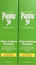 2x Plantur 39 FITO-CAFFEINA shampoo per capelli colorati e ha sottolineato 250ml
