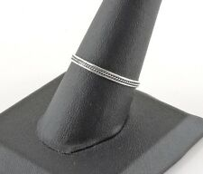 Sterling Silver Rope Twist Band Ring - Free Gift Packaging