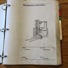 Raymond 60B Pacer ELC FORKLIFT TRUCK Operation & Maintenance Manual Part Catalog