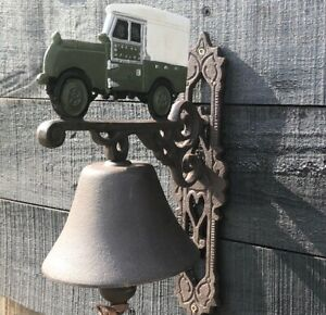 Land Rover Cast Iron Bell Iconic British Automobile
