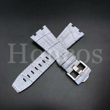 28MM Alligator Leather Watch Band Strap Fits For AP Audemars Piguet Gray 42 USA