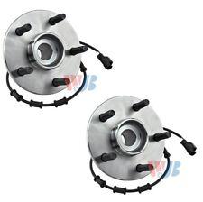Pair Set of 2 Front WJB Wheel Bearing HD Hub Kits for Dodge Ram 1500 4Wheel ABS