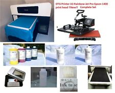 T-Shirt Printer(FOCUS with Epson1400 print head) DTG PrinterA3: Rainvow-Jet Pro