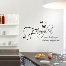 Adesivi murali frasi famiglia amore wall stickers decorazione parete muri a0398