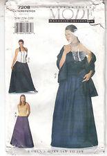 Vogue Womens Top Skirt Shawl Mode Collection Vogue Pattern 7208 Uncut 20W-24W