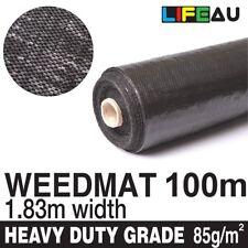 1.83m x 100m Weedmat Weed Control Mat Garden Landscape PP Woven Fabric 85gsm