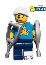 LEGO Minifigures Clumsy Guy Series 15 NEW 71011 Crutches Minifigure Mini Figure