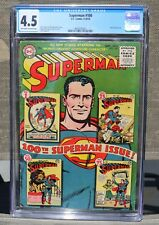 SUPERMAN #100 (10/55) CGC 4.5 (KEY ISSUE) SHOWS COVER TO #1, 25, 50 AND 75