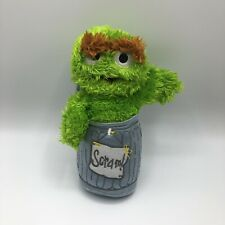 "Oscar The Grouch In Trash Rubbish Can ""Scram"" Sesame Street 9"""