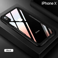 Coque Etui Cover en Verre Trempé Luxe ultra mince Premium iPhone X XS XR XS MAX