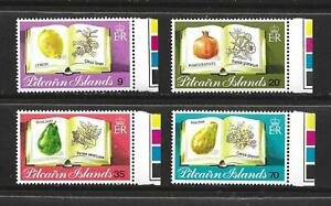 PITCAIRN ISLANDS COMPLETE STAMP SET W/ MARGINS SCOTT #209 - 212 MNH FRESH FRUIT