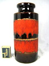 "70´s design Scheurich "" Fat Lava "" pottery Keramik vase 203 - 22  dull red glaze"