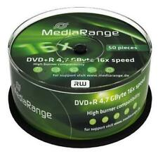 50 Pack MediaRange DVD+R 4.7GB Discs 16x