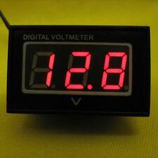 LED Volt Meter Voltage RED Panel Waterproof Voltmeter Display DC 12V 24V Solar