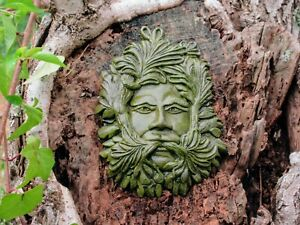 Calm Green Man, Concrete Garden Decor by Noted American Artist Richard Warsin