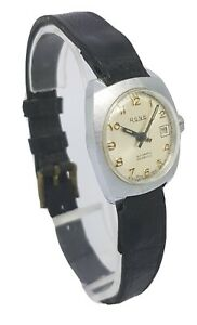 Vintage RONE Automatic Incabloc Swiss Made Ladies Watch Date Function A17