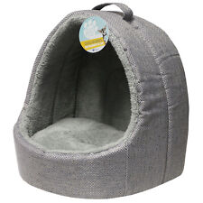 More details for me & my grey soft fleece igloo cat bed pet kitten/dog/puppy warm/snug cave pod