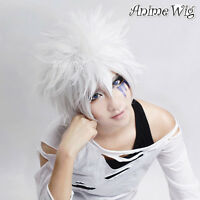 Reborn Byakuran Short White Anime Cosplay Layered Style Fashion Men Boy Hair Wig