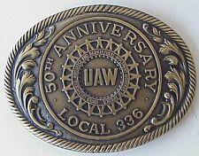 Vintage UAW Local 336 Atlas Crankshaft Belt Buckel Fostoria Oh.
