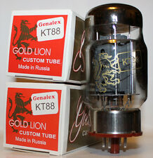 Matched Pairs ( 2 tubes ) Genalex Gold Lion KT88 tubes, Brand NEW in Box !