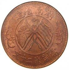 1919 China Hunan 20 Cash (20C) Y-400 - NGC MS63 RB - Rare Red BU UNC Coin