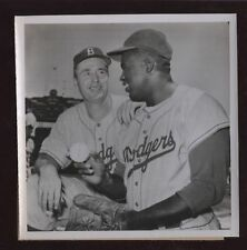 Original 1954 Jackie Robinson - Walt Alston Wire Photo