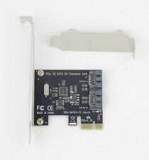 Pcie Pci-E SATA 3.0 Interno 6Gbps 2-Port Expansión Mando Adaptador de Tarjetas