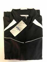 New ASICS Women's Cali Volleyball Warm-Up Jacket YT2515 Black White S M