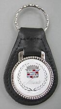 White Cadillac ALLANTE Black Leather Silver Keyring Key Fob 1992 1993