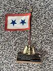 Bronze Eagle Flag Desk Paperweight President Franklin D. Roosevelt