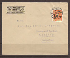 AUSTRIA. 1925. 1,500K SINGLE FRANKING ON COVER OF MUSIC / THEATRE INTEREST. WIEN