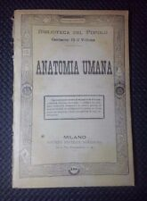 ANATOMIA UMANA FINE '800 N. 198 MEDICINA BIBLIOTECA DEL POPOLO