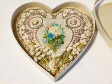 1876 Valentine Card Paper Lace & Shell Love Heart Shaped All Original #1