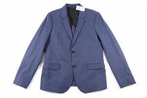 STEVEN ALAN MTA0006 BLUE 42 LINEN BLEND OLIVER BLAZER SPORT COAT JACKET MENS NWT