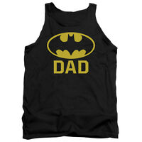 BATMAN BAT DAD Licensed Adult Men's Graphic Tank Top Sleeveless Tee SM-2XL