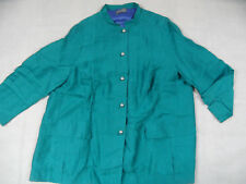 SELECTION by ULLA POPKEN chicer Leinen-Blazer KURTKA petrol Gr. 54 TOP HMI918