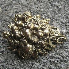 Gianna Rose  Gold Plate Victorian Flower boquet   Pin Brooch~Crazy Quilt~Scrap