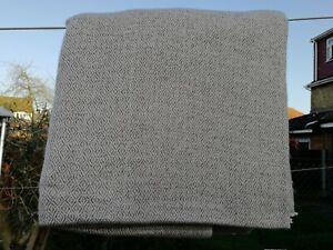 Cashmere Blanket Throw Travel Wrap Handmade NEPAL bed Natural grey diamond weave