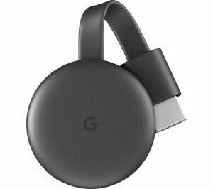 GOOGLE Chromecast - Third Generation Charcoal - Currys